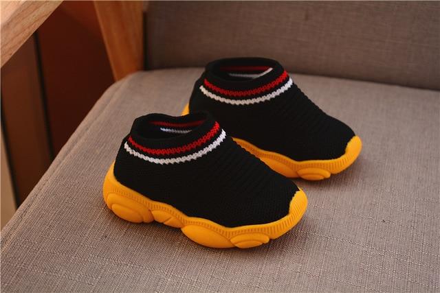 2019 new spring bear shoes female baby soft bottom socks stripe boy sleeve toddler shoes 4