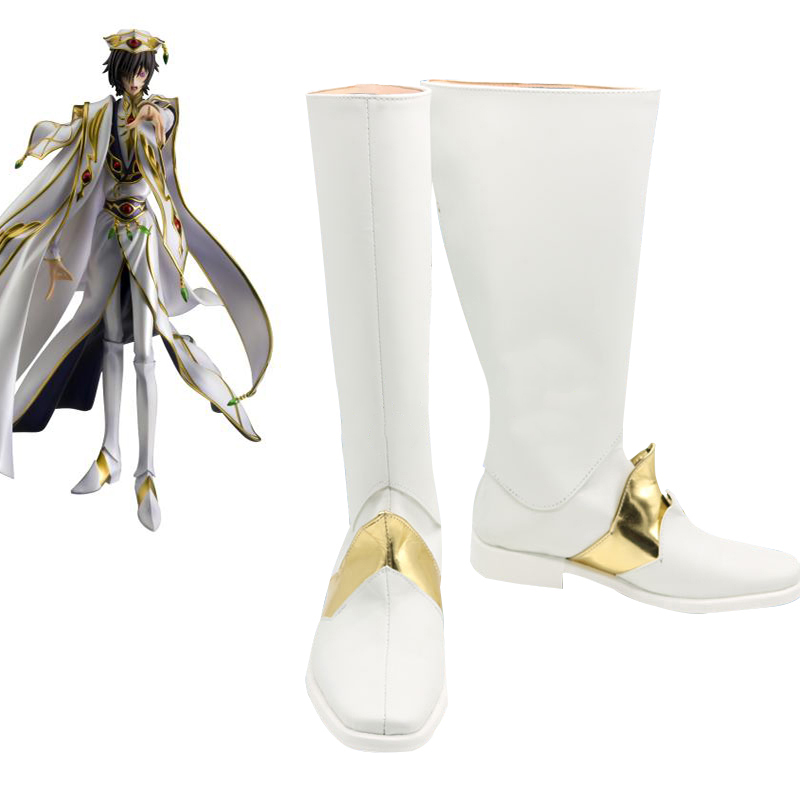 Code Geass Cosplay Shoes Anime Emperor Lelouch Boots Shoe Halloween Party boots Custom made
