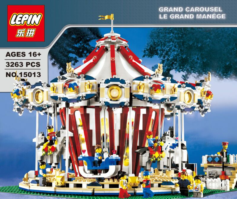 ФОТО lepin 15013 city sreet ceator carousel model building kits mini figures blocks toy compatible with lego