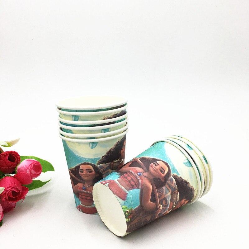 10pcs//lot LOL Moana Avenger Kids Birthday Party Cups Favor Supplies Decoration