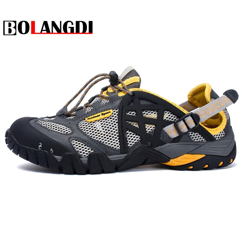 Bolangdi Men Women Hiking Shoes Outdoor Sneakers Breathable Sport Shoes Men Big Size Hiking Sandals For Men Trekking Trail Shoes bolangdi men hiking shoes sports sneakers man athletic shoes waterproof breathable climbing camping outdoor shoes big size 39 48