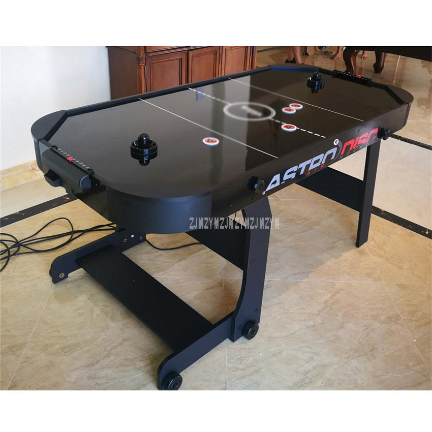 6 Feet Air Hockey Table Strong Foldbale Home Indoor Sport Game Play Equipment With 4 Pucks And 4 Felt Pusher Mallet Grip WH6002