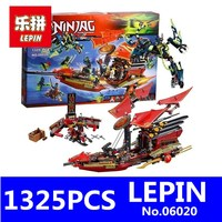 Final Flight Of Destiny S Bounty Model Building Blocks LEPIN 06020 1325Pcs Ninja BELA 10402 Educational