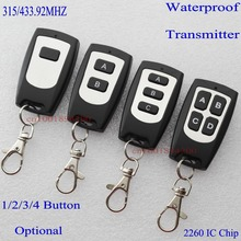 RF Remote Control Wireless Controller Transmitter 315MHZ  4.7  IC 2260 Water proof 1-4 button receiver fittings for professional