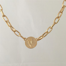 FASHION JEWELRY SHORT WOMEN GIRL NECKLACE COIN PENDANT