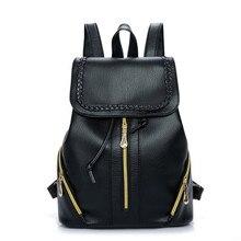 Новый кожаный рюкзак Женщин Рюкзаки Школьные Сумки Студент Рюкзак Женские Сумки Кожаный Пакет рюкзаки для девочек-подростков