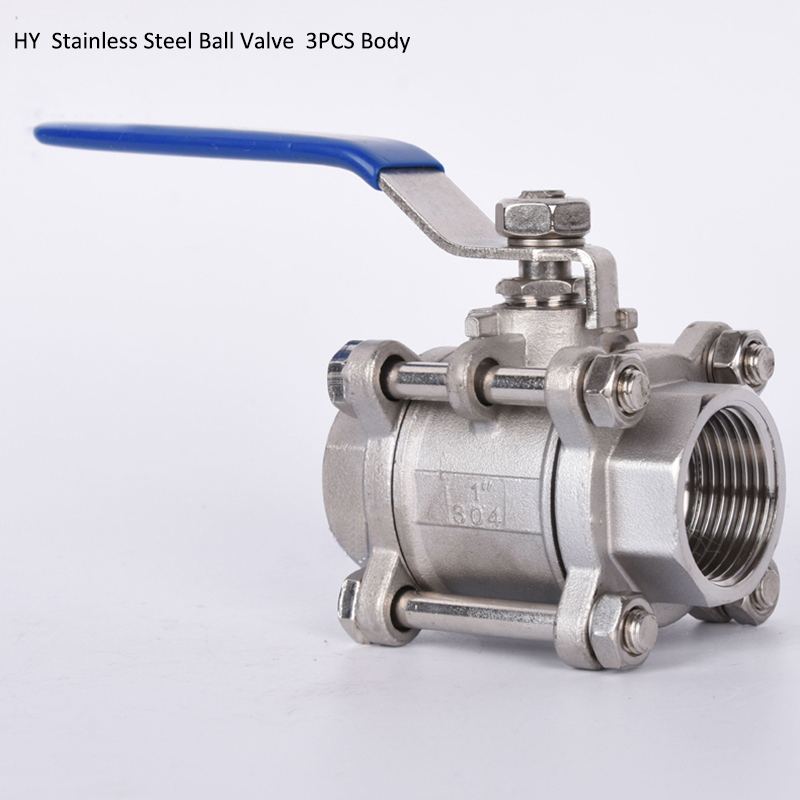 "1/2"" to 2"" SS316L Stainless Steel Ball Valve Full Port with Vinyl Handle, SS304 3Pc Thread Ball Valves"