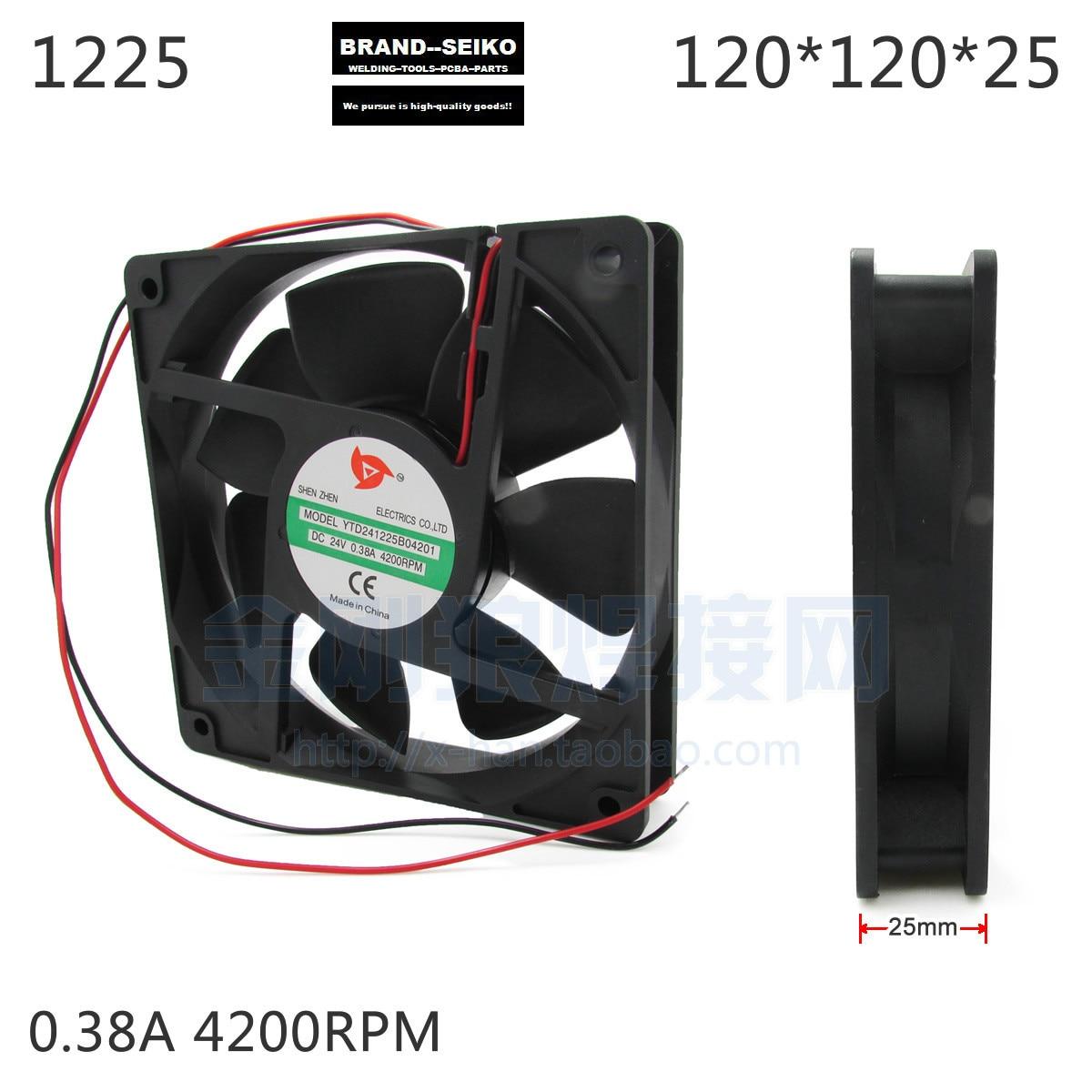 Inverter Welding Machine Thin Section High Speed Cooling Fan 1225 0.38a Dc24 4200 royal fan ut626dg tp 16cm220v 5w inverter cooling fan