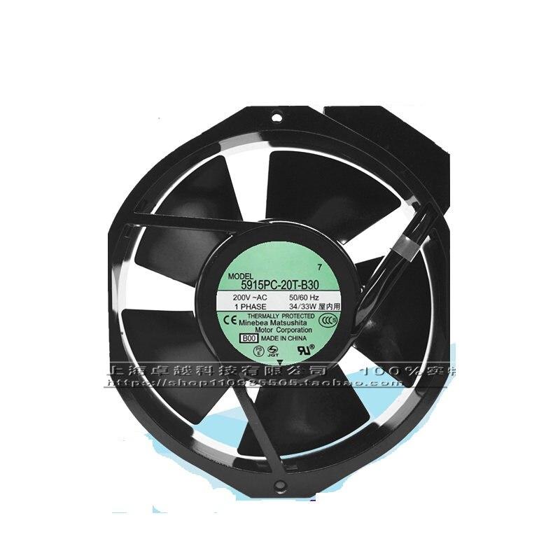 New original 5915PC-20T-B30 20V 33 34W 172MM * 150MM * 38MM fan new original 5915pc 22t b30 172mm 150mm 38mm 220v 40 38w fan