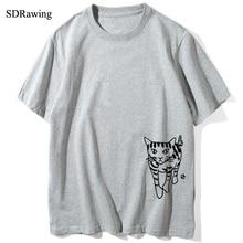 Walking cat Print Women tshirt Cotton Casual Funny t shirt For Lady Girl Top Tee Hipster Tumblr Drop Ship недорого