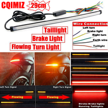 Universal 290mm Motorcycle Sequential Running Brake Tail Light Turn Signal Integrated LED Stop Taillight Strip universal flexible led strip stop light motorcycle turn signal brake tail strip 48 smd led strip tail light motorcycle motorbike
