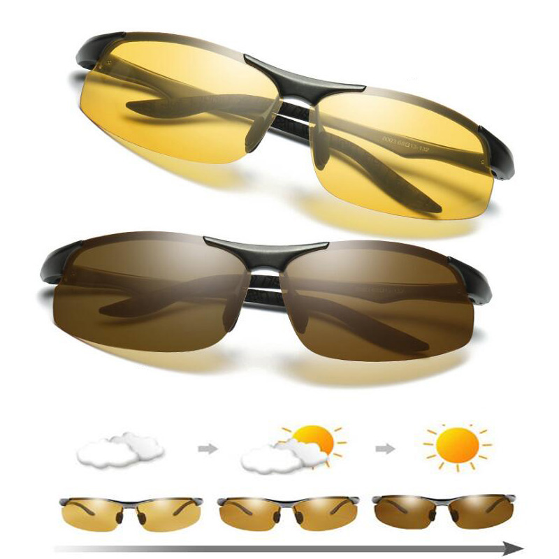 Men's Day Night Photochromic Polarized Sunglasses For Drivers Male Safety Driving Anti Glare UV400 Luxury Chameleon Sun Glasses