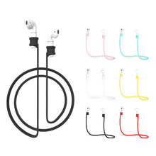 Wireless Bluetooth Headphone for Iphone Anti-lost Rope Silicone Lanyard Headset Generation Earphone Anti-lost Line for Earphone(China)