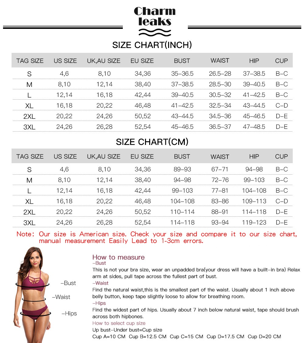 Women Swimsuit SizeChart