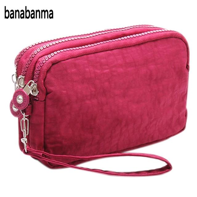 Banabanma Lady Wallets and purses Women Wallet Package 3 Layers Handbag Cross Section Clutch Bag Large Capacity Best Gift ZK28