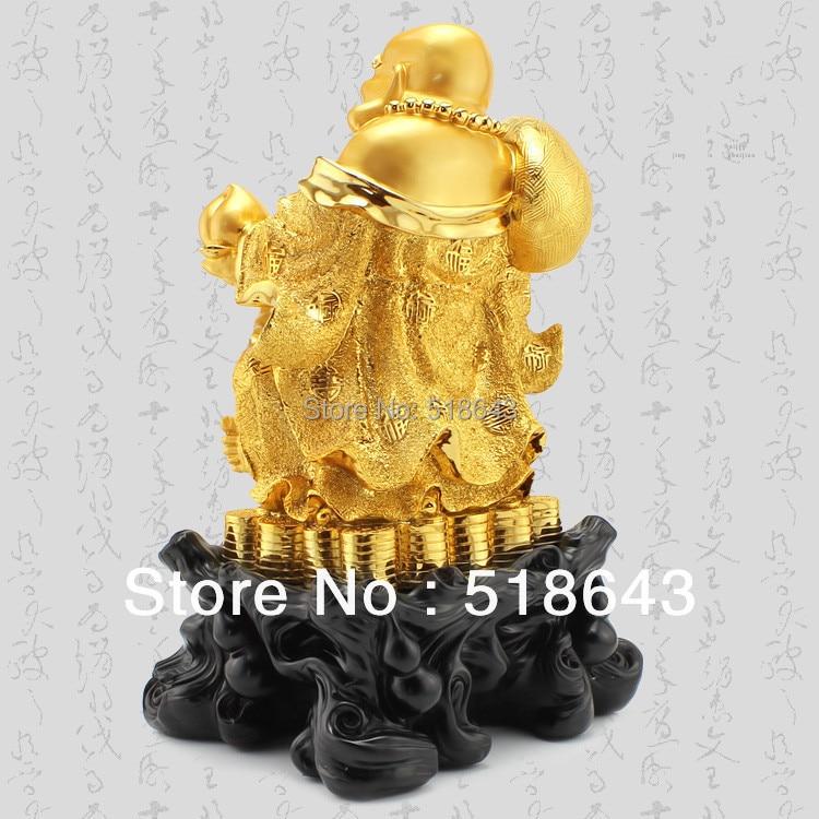 Uśmiechnięte Buddha artykuły wyposażenia wnętrz pozłacane - Wystrój domu - Zdjęcie 4