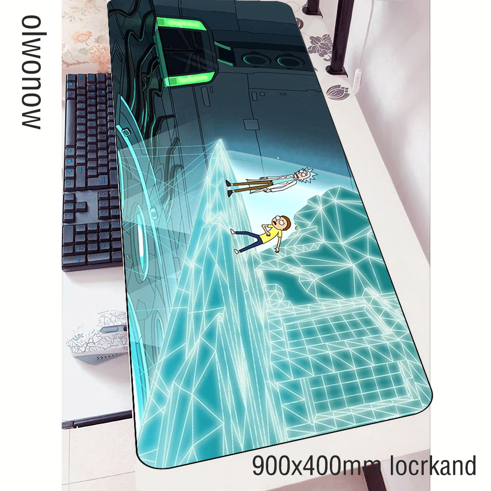 rick and morty <font><b>padmouse</b></font> <font><b>900x400x3mm</b></font> gaming mousepad Halloween Gift mouse pad gamer computer desk big mat notbook mousemat pc image