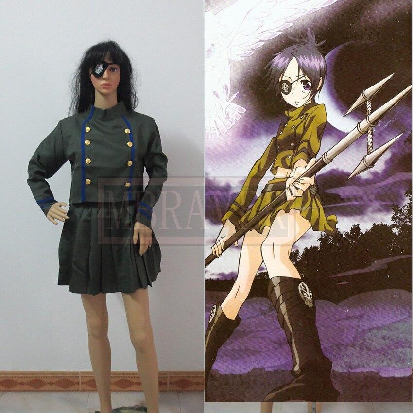 Kuromu Dokuro Cosplay Costumes Anime HITMAN REBORN! Free Shipping (Top + Skirt + Goggles)