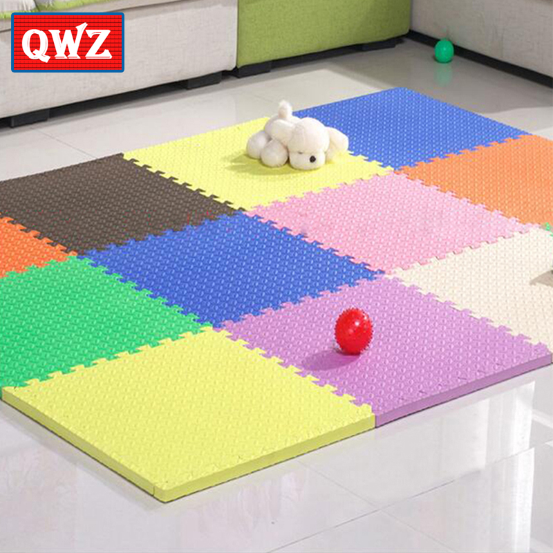 Gym Mats Non Toxic: QWZ 12PCS EVA Foam Play Mat Baby Tree Leaf Veins Play Mat