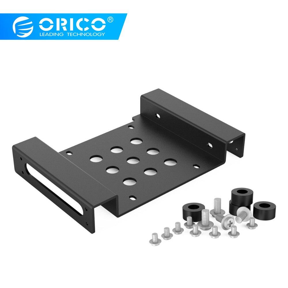 ORICO de aluminio de 5,25 pulgadas a 2,5 o 3,5-pulgadas todo-en-1 HDD Disco Duro SSD convertidor adaptador de montaje (AC52535-1S-BK)
