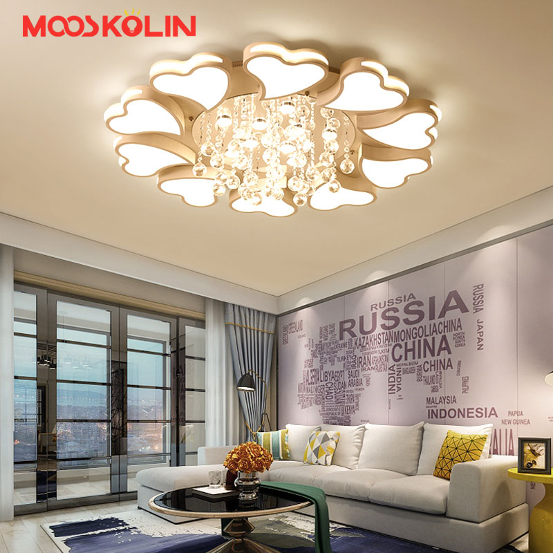 New crystal modern led ceiling lights for living room bedroom home indoor decoration led ceiling lamp lighting light fixtures