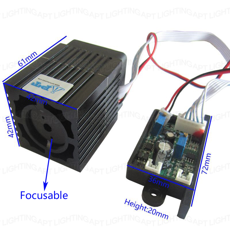 Focusable Quality Super stable 300mW 532nm green laser module Stage Light RGB Laser Diode Compact Design/TT L  DC 12V input