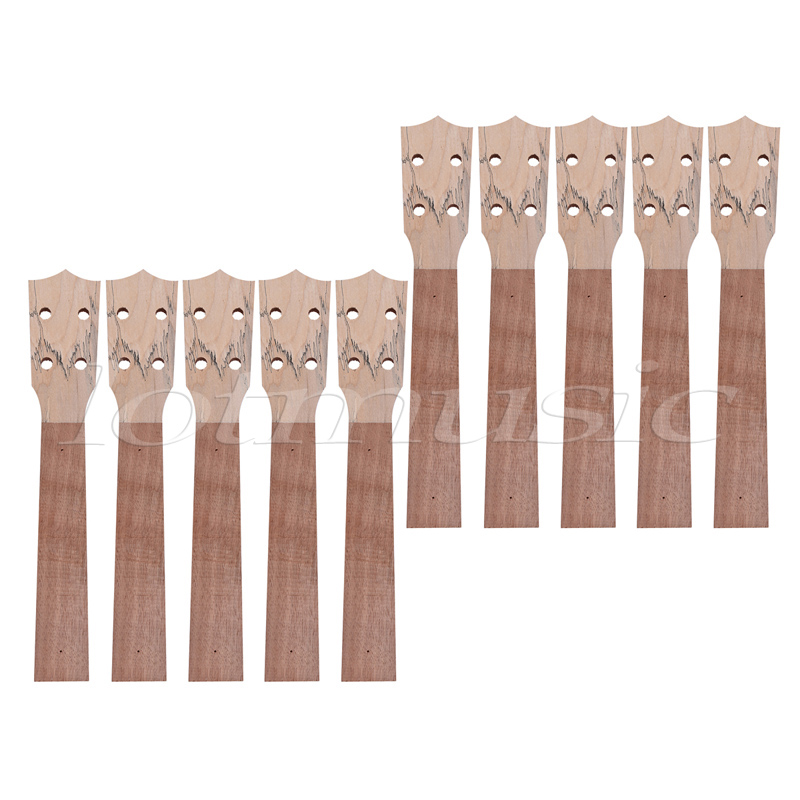 Ukulele Neck for Concert 23 Inch Ukelele Uke Hawaiian Guitar Parts Builder DIY Unfinished 10 Pcs soprano ukulele neck for 21 inch ukelele uke hawaii guitar parts luthier diy sapele veneer pack of 5