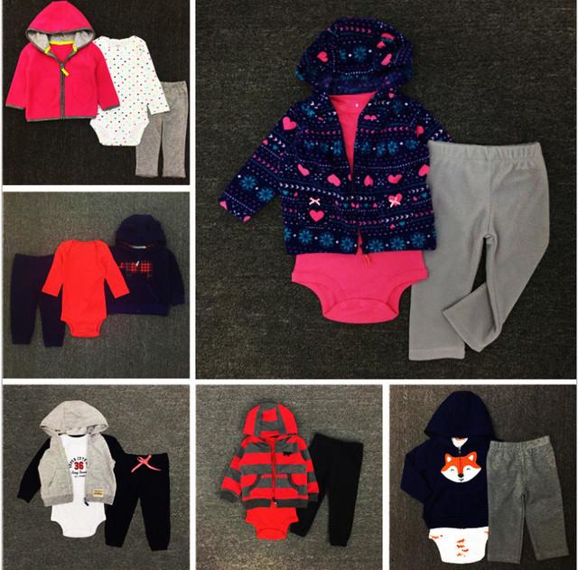 Novo Carter Roupas menino definir Conjuntos de Roupas Bodysuit de Algodão Recém-nascidos Conjunto menina Partido Do Bebê Da Menina do bebê Meninos Moda roupas bebes conjunto