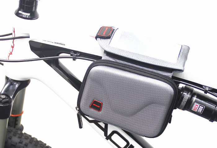 Waterproof Outdoor Cycling Mountain Bike Giant Merida Bicycle Bag Frame Front Tube Bag Panniers Touchscreen Phone Case
