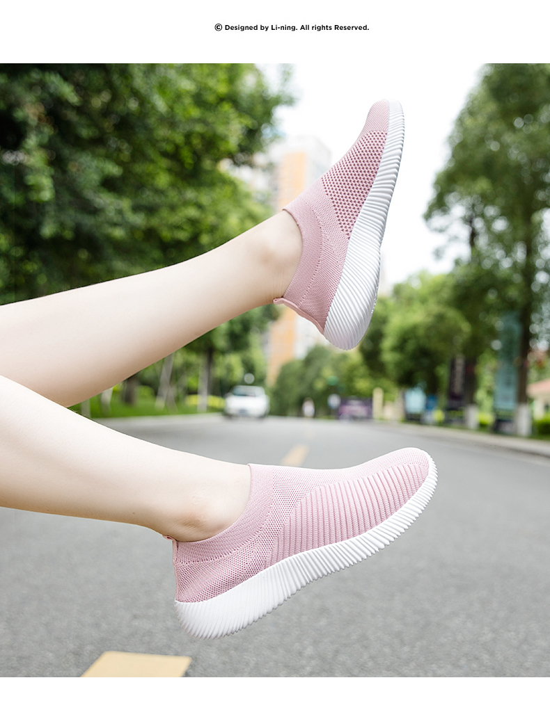 Slip On Flying Knit Women Fashion Sneakers Breathable Flat Heel Casual Shoes Round Toe Low Top Women Shoes XU034 (28)