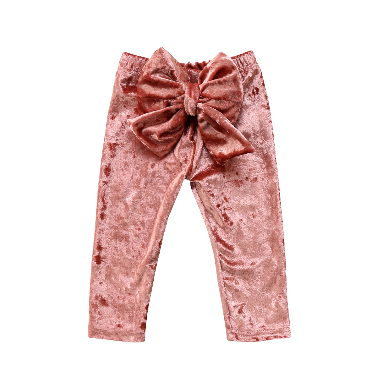 Fashion Toddler Kids Baby Girls Clothing Pants Bowknot Warm Bow Cute Pants Clothes Girl 6M-5T cute newborn baby boy girl pant plain long pants kids grey elastic waist pants toddler kids striped bottom trouser clothes