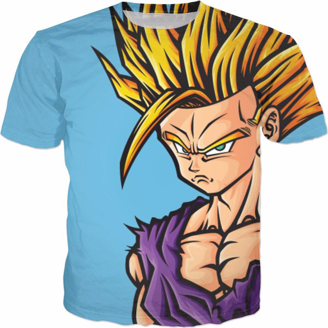 PLstar Cosmos hip hop unisex tshirt 2017 New Dragon Ball Z Goku 3D Print T-Shirt Men Boy Novelty T shirt Tops Fashion Tees