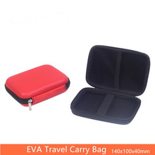 140*100*40mm power bank box hard disk bag EVA headphone holder Mobile cargador movil Bag pouch Square 2 Colors