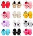 Único no logo Bowknot zapatos de bebé Inferiores Suaves Borlas de Moda Mocasín Bebé Recién Nacido Los Bebés Zapatos pu Prewalkers Botas