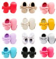 Sole no logo Bowknot baby shoes Soft Bottom Fashion Tassels Baby Moccasin Newborn Babies Shoes PU leather Prewalkers Boots