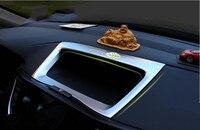ABS Chrome Car Interior Navigation Control Panel Decorative Frame Cover Trim For Honda CR V CR V 2012 2015 Car Styling