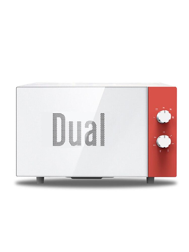 20L trempe verre panneau 360 degrés chauffage four à micro-ondes petit déjeuner machine 3 couleurs 5 vitesses feu au four à micro-ondes réglable