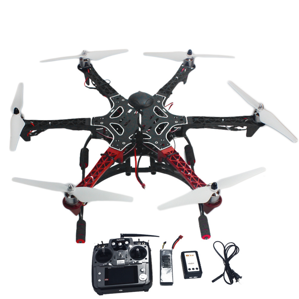 ᗛDIY 6 eje rc hexacopter helicóptero RTF drone con at10 TX/RX 550 ...