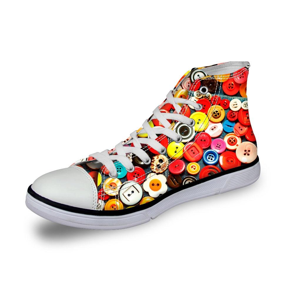 c0824ak Plat Noisydesigns Boutons Sneakers couleur Chaussures en 3d Toile Vulcanisé Oumo C0821ak c0826ak Casual akcustomized c0822ak Imprimer Top Haute Arc Vintage c0825ak c0823ak Hommes Garçons raAqr41
