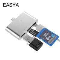 EASYA Mini USB Type C Adapter Portable Thunderbolt Card Reader Type C Hub Converter For Phone