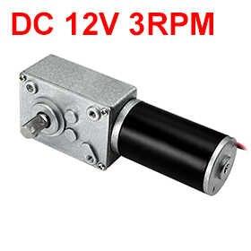UXCELL (R) 1 sztuk DC 12 V 3 obr/min robak motoreduktor 40kg-cm z dużym momentem obrotowym prędkość zmniejszenie turbiny elektryczny silnika skrzyni biegów 8mm trzonkiem