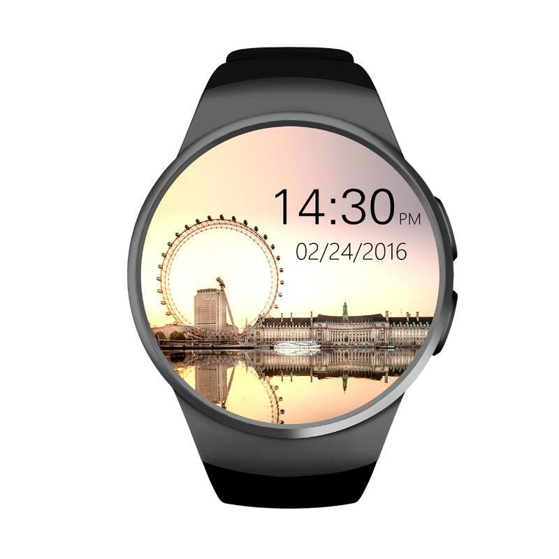 Prix pour Nouvelle smart watch téléphone kw18 mtk2502c 1.3 pouce ronde écran ips lcd 240x240 bluetooth 4.0 anti-perdu alerte caméra à distance