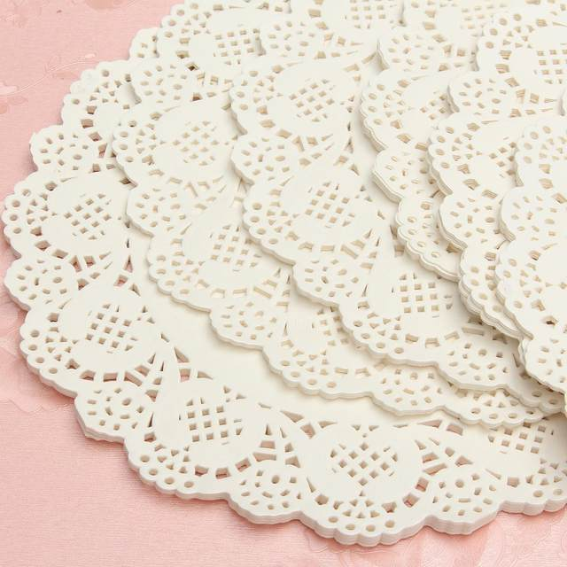 120Pcs White Round Lace Paper Doilies Plates Mats Coasters Placemats Wedding Events Party Table Gift Bag Decorative Accessories  sc 1 st  Aliexpress & Online Shop 120Pcs White Round Lace Paper Doilies Plates Mats ...