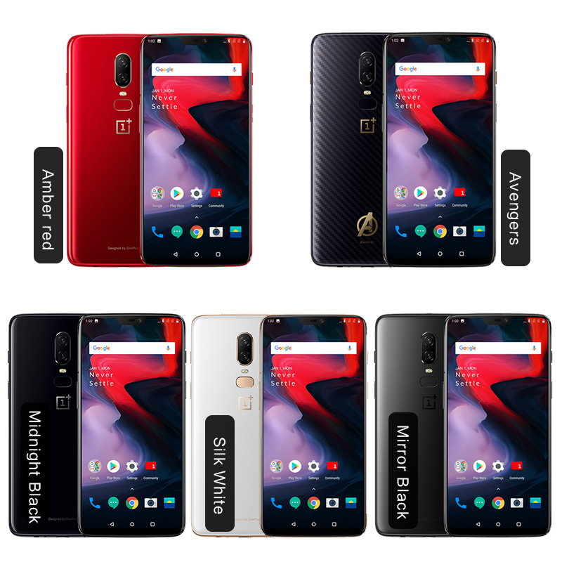6.28″ Oneplus 6 Snapdragon 845 Android 8.1 Cellphone 6GB/8GB RAM 64GB/128GB/256GB ROM Dual Cameras in stock Global Firmware