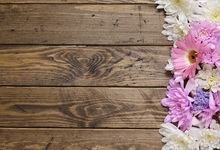 Laeacco Old Wooden Board Blooming Flowers Baby Newborn Photography Background Customized Photographic Backdrop For Photo Studio