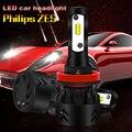 Mini8-H8/H9/H11 2 шт./лот светодиодные фары для автомобиля 50 Вт 9600LM высокий лм COB Белый свет 6000 К водонепроницаемый высокое качество освещения голов...