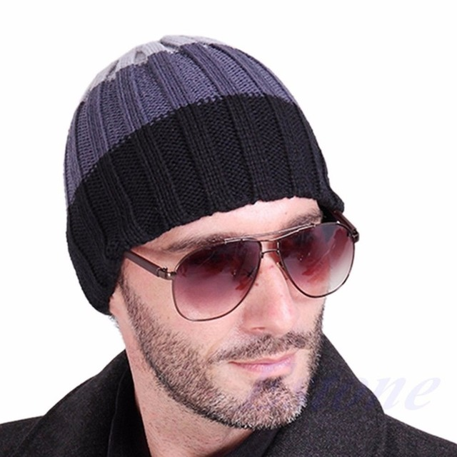 Fashion Women s Men s Hat Unisex Warm Winter Knit Cap Hip-hop Beanie Hats  Black-Y107 480f4786ec9