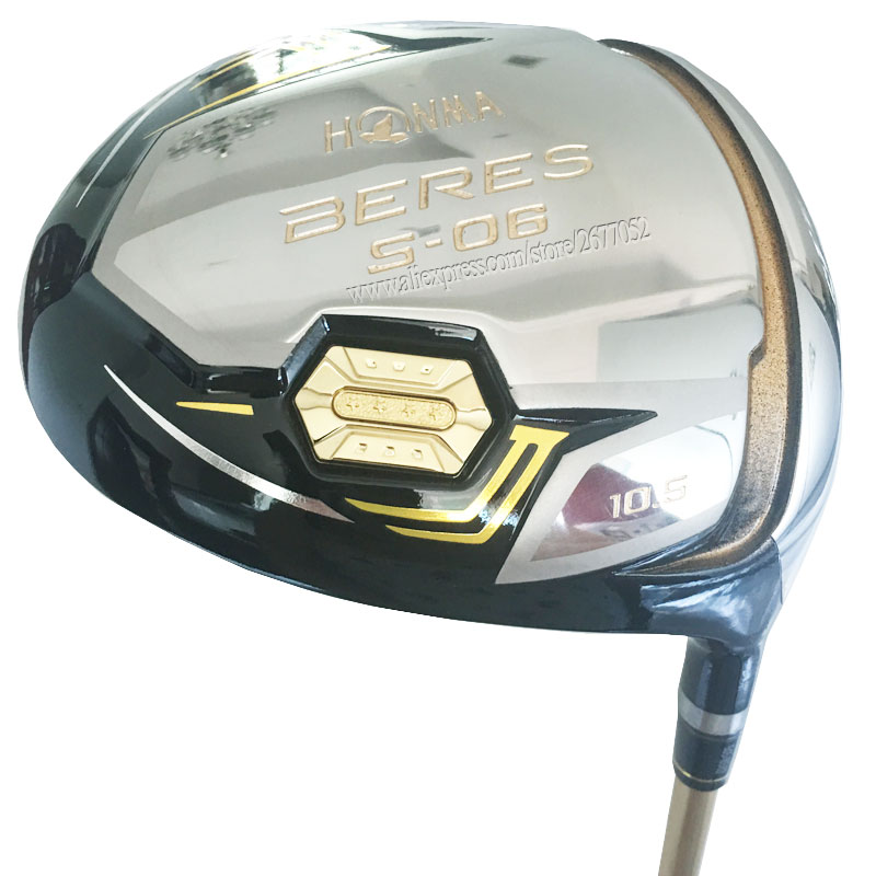 New Golf Clubs HONMA S-06 3 Star Golf Driver 9.5 Or 10.5loft Driver Clubs Graphite Shaft R Or S Golf Shaft Cooyute Free Shipping