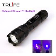 New WF-502B CREE UV LED Flashlight 502B Purple Light UV 395nm Ultraviolet Lamp free shipping
