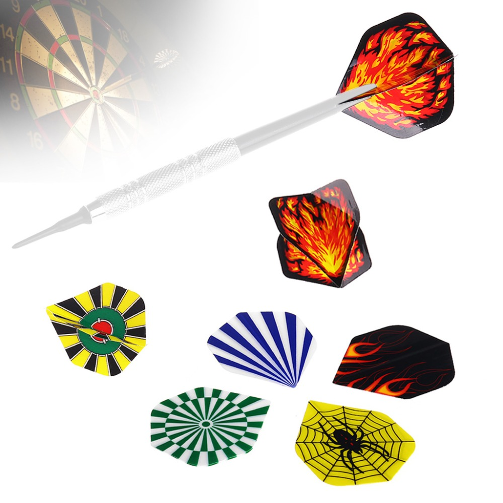 New 6 Pcs Nice Dart Flights Darts Flight Throwing Toy